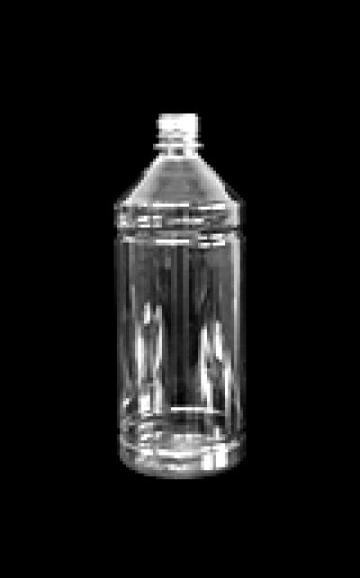 1 literes víztiszta PET flakon