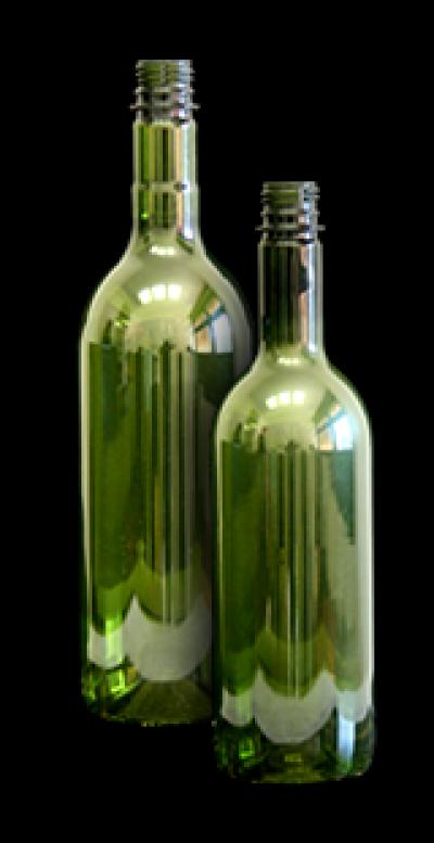 Olive zöld boros PET flakon